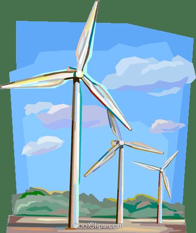 オランダ風力発電機 ロイヤリティ無料ベクタークリップアートイラスト