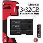 Kingston DataTraveler 100 G3 USB Flash Drive DT100G332GB3P