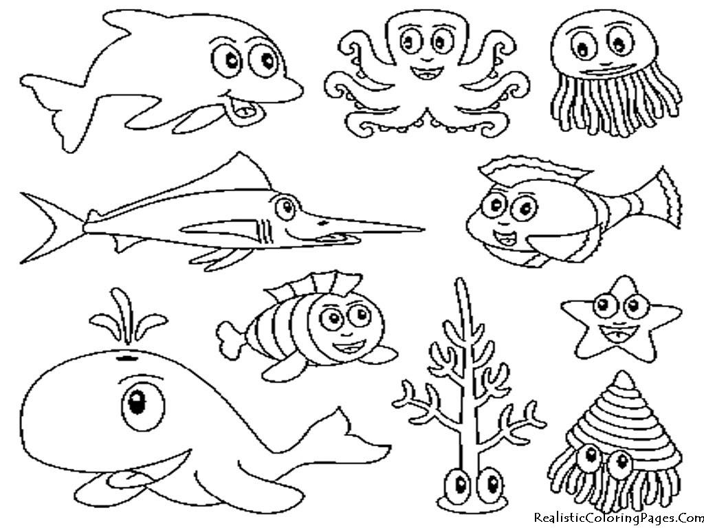 Animales Del Mar Para Colorear Rincon Util