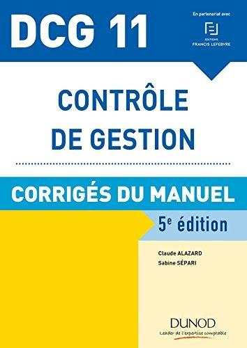 Télécharger DCG 11 - Contrôle de gestion - 5e éd ...