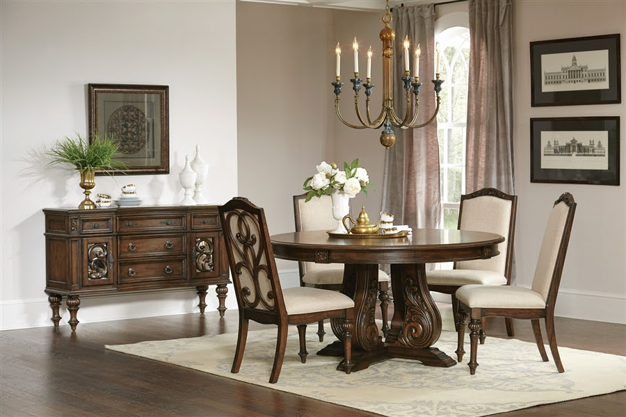 Ilana Traditional Console Server in Antique Java Finish by ...