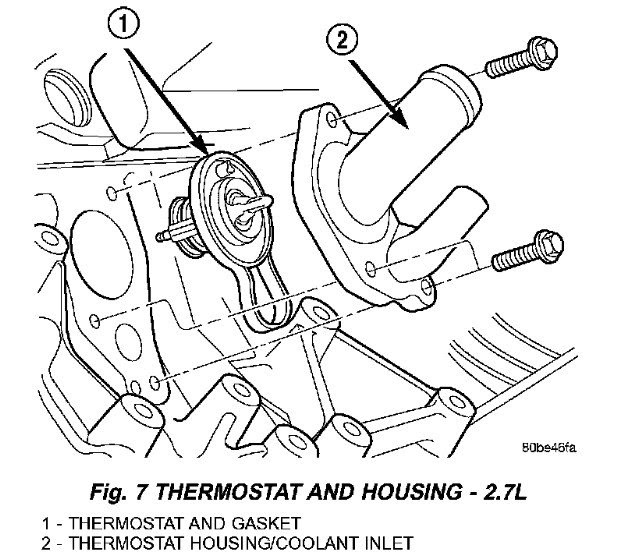 Schematics And Diagrams  2004 Dodge Intrepid  How To Replace Thermostat