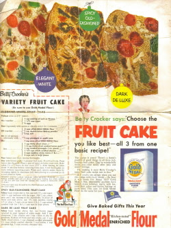 Betty Crocker's Variety Fruit Cake - 3 Vintage Recipes ...