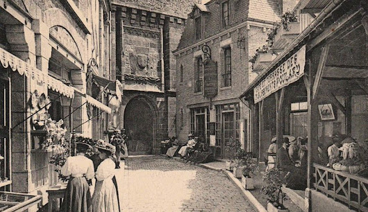 La Mère Poulard and a very modern scandal, on Mont Saint-Michel – Normandy Then and Now