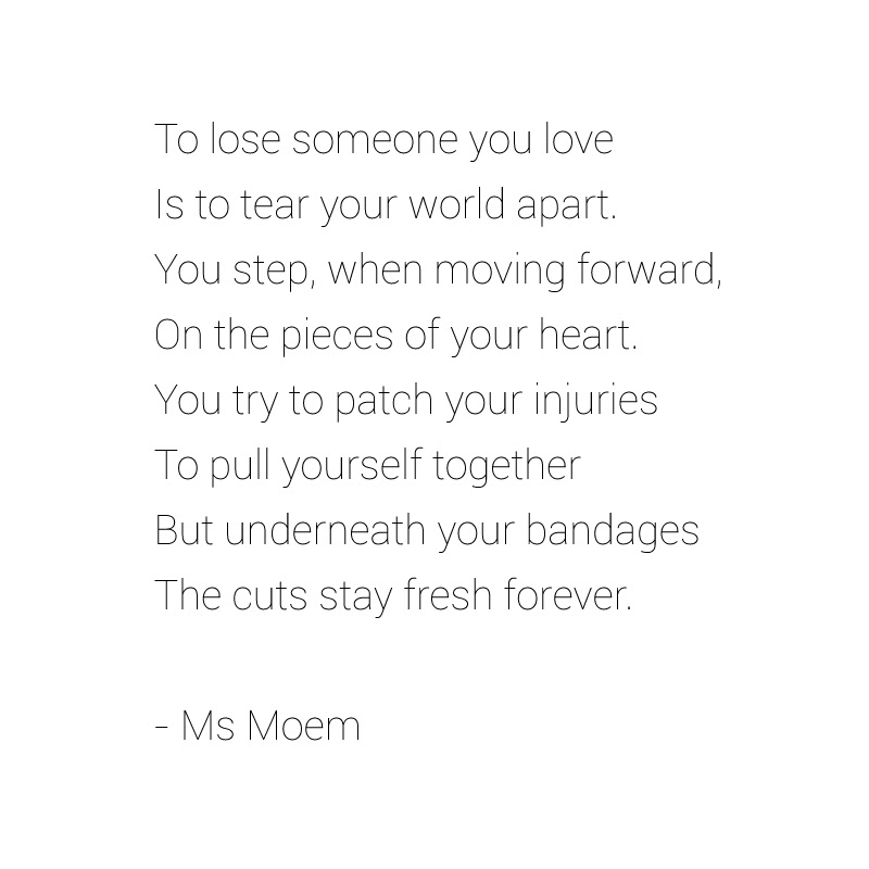 Wounded A Poem About Losing Someone You Love