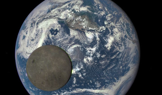 The dark side of the moon sails across Earth in new NASA video