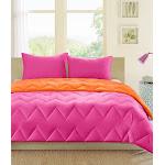 Intelligent Design - Trixie Reversible Comforter Mini Set - Pink - Full/Queen
