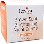 Brown Spot Skin Lightening Night Cream by Reviva - 1 Ounces