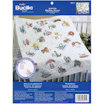 "Bucilla Stamped Cross Stitch Baby Quilt Top 34""X43"" Alphabet Dreams"