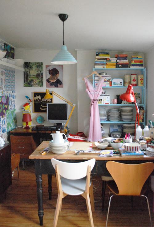 Nina van de Goors Home - Studio eclectic home office