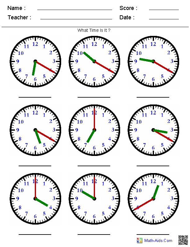 NEW 751 FIRST GRADE WORKSHEET ON TELLING TIME | firstgrade ...