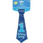 "Amscan 1st Birthday Tie, 9"", Blue"