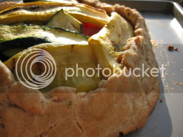 gluten-free zucchini and summer squash galette with gluten-free pie crust