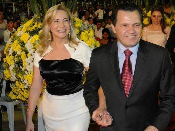Roseli Barbosa é casa com o ex-governador Silval Barbosa (PMDB) (Foto: Jana Pessôa/Setas-MT)