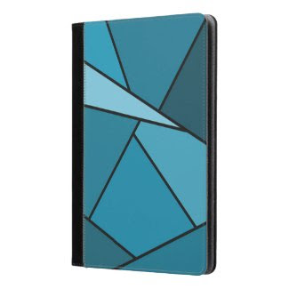 Abstract Teal Polygons