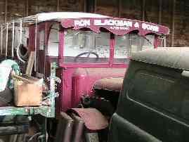 1920's lorry behind a 1950's Bedford van