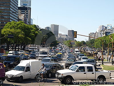 Traffic in Buenos Aires