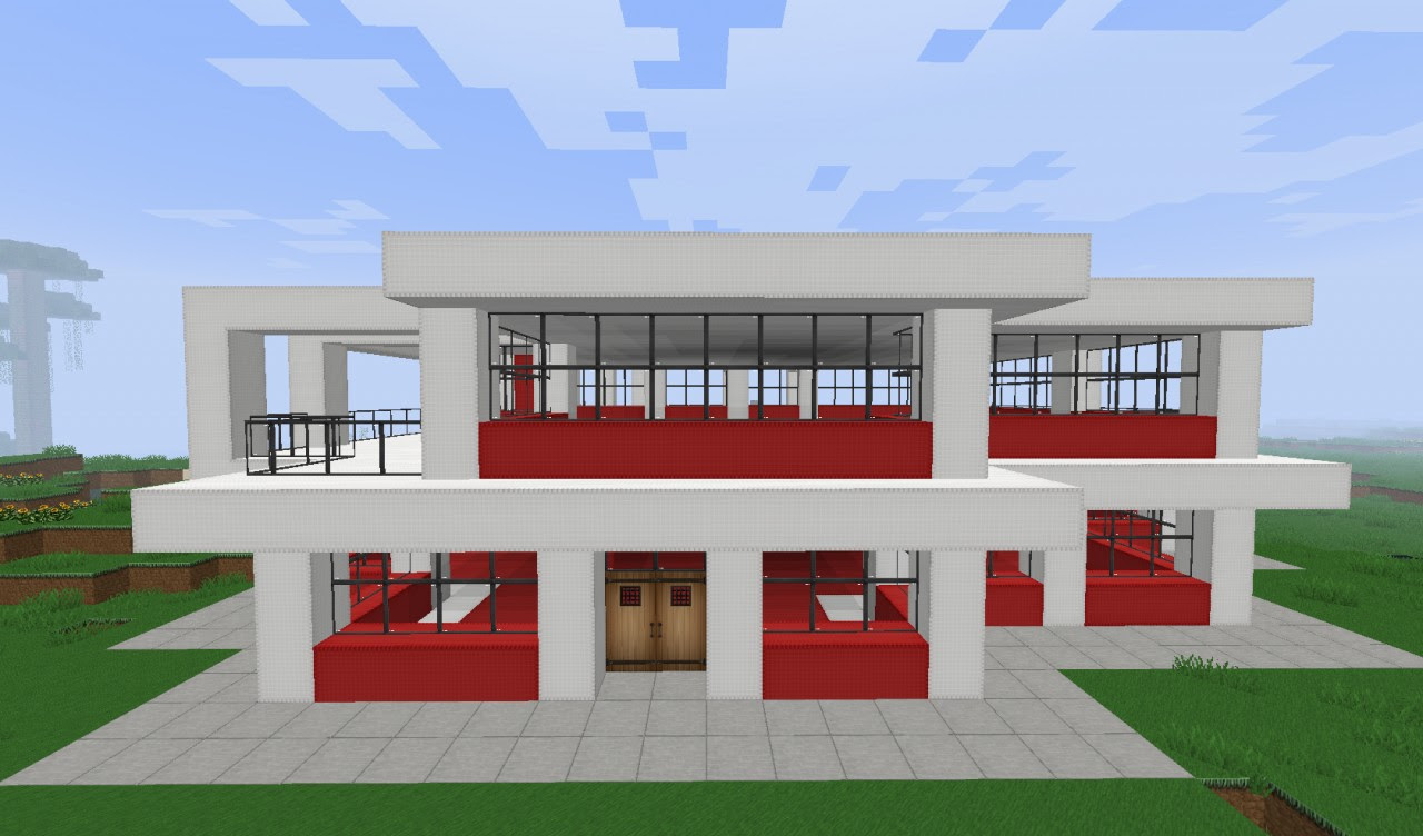 Modern Balcony In Minecraft Home And Kitchen