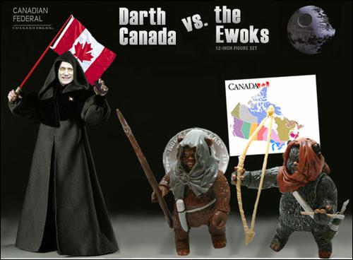 Darth Canada vs. the Ewoks