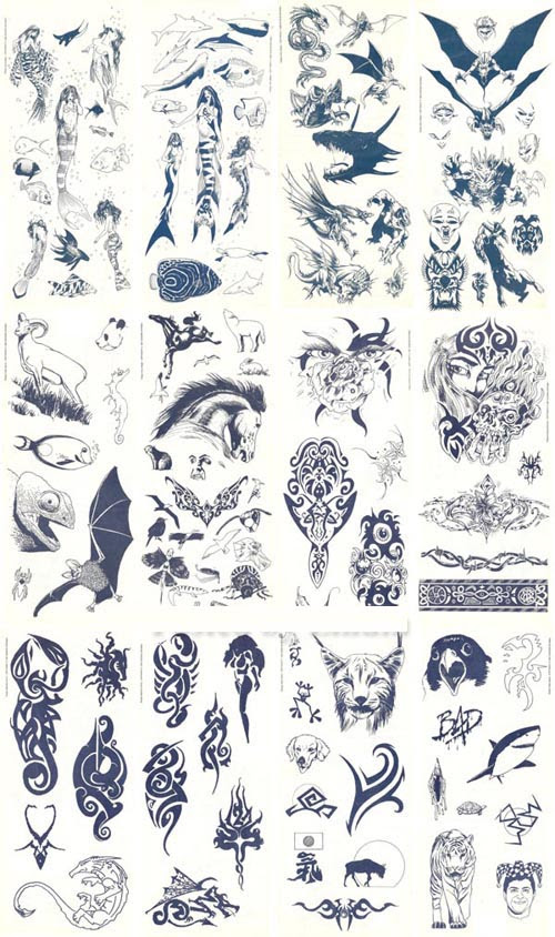 Tattoo Flash Sheets Lines
