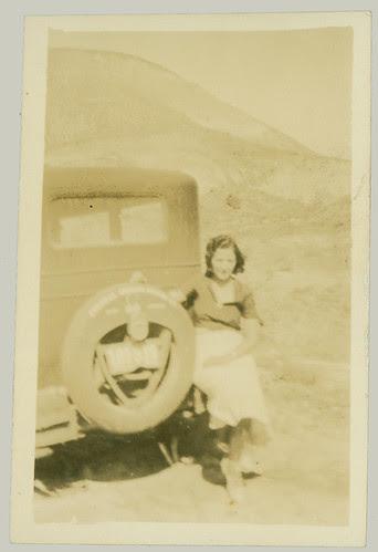 Woman on bumper