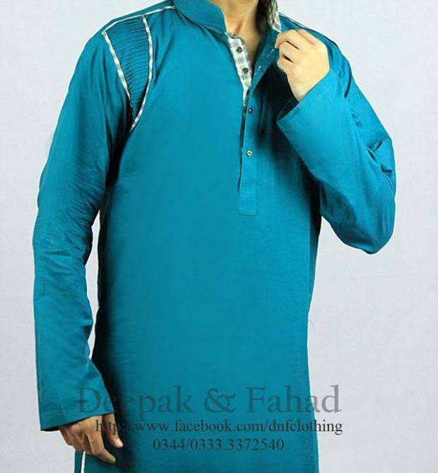 Mens-Boy-New-Summer-Eid-Dress-Kurta-Kamiz-Salwar-Pajama-2013-by-Deepak-Fahad-4