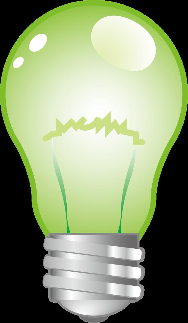 Incandescent light bulb Green Lamp - light bulb png ...