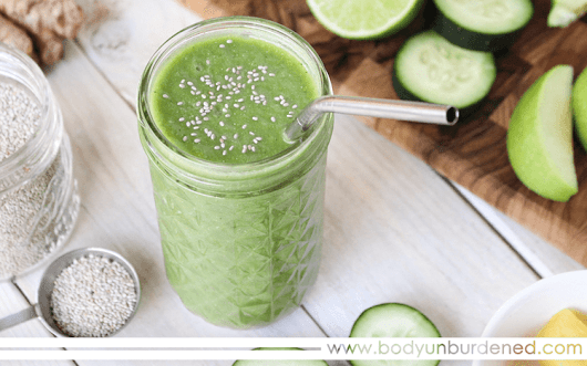 Super Refreshing Green Smoothie - Body Unburdened