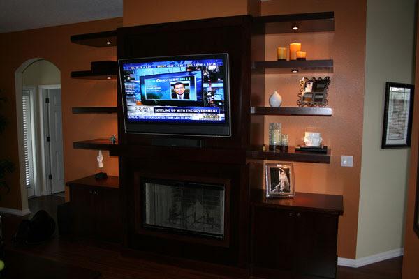 Entertainment Centers   LSR Custom Cabinets