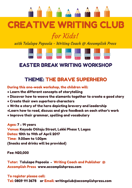 Easter Break Creative Writing Workshop for Kids