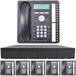 Business Phone System by AVAYA: Essential IP Edition (6 Phone Bundle)