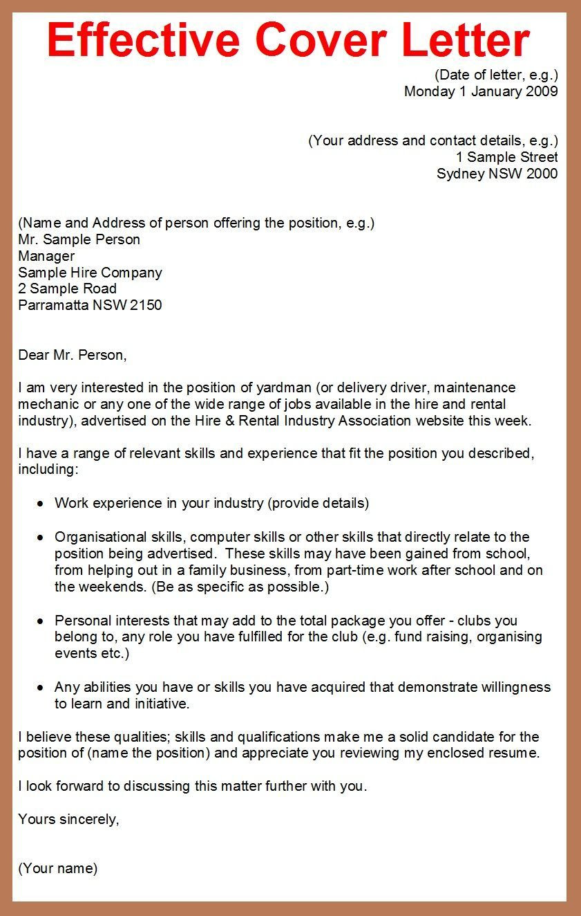 30 Cover Letter Sample For Job Application Career