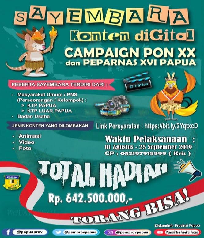 Kampanye Digital PON XX 2020 Papua
