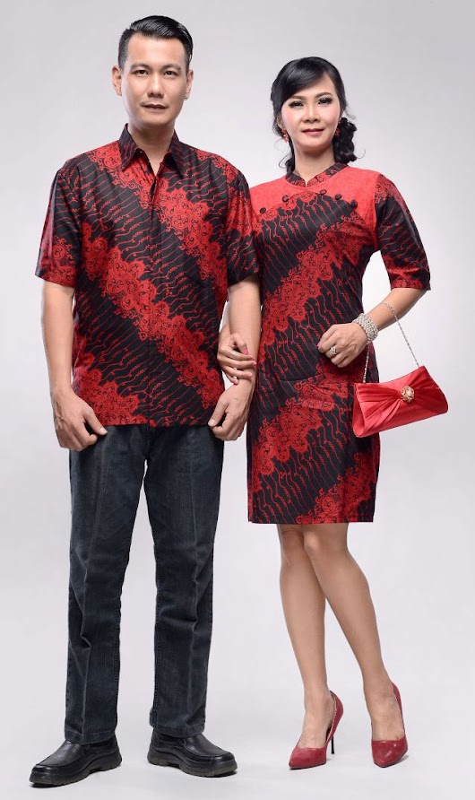 Baju Batik Couple Alona Cheongsam Series 2018