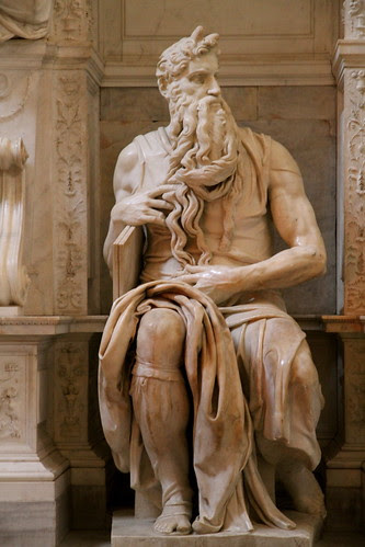 Michelangelo's Moses statue (1515) by Niroshan Sothilingam