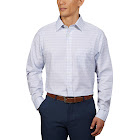 Kirkland Signature Men's Tailored Fit Dress Shirt, Light Blue Box, 17.5 - 34/35