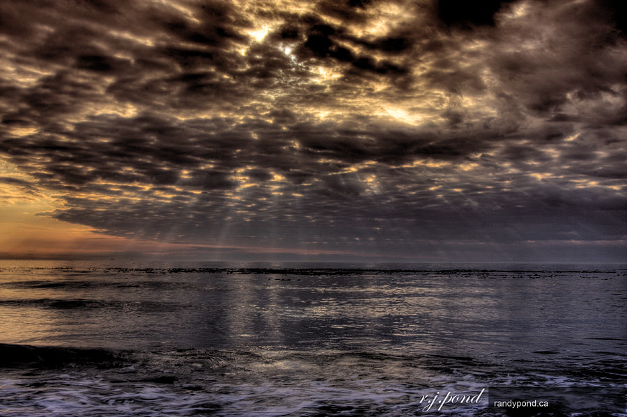 ~ HDR Sunset on the Beach ~