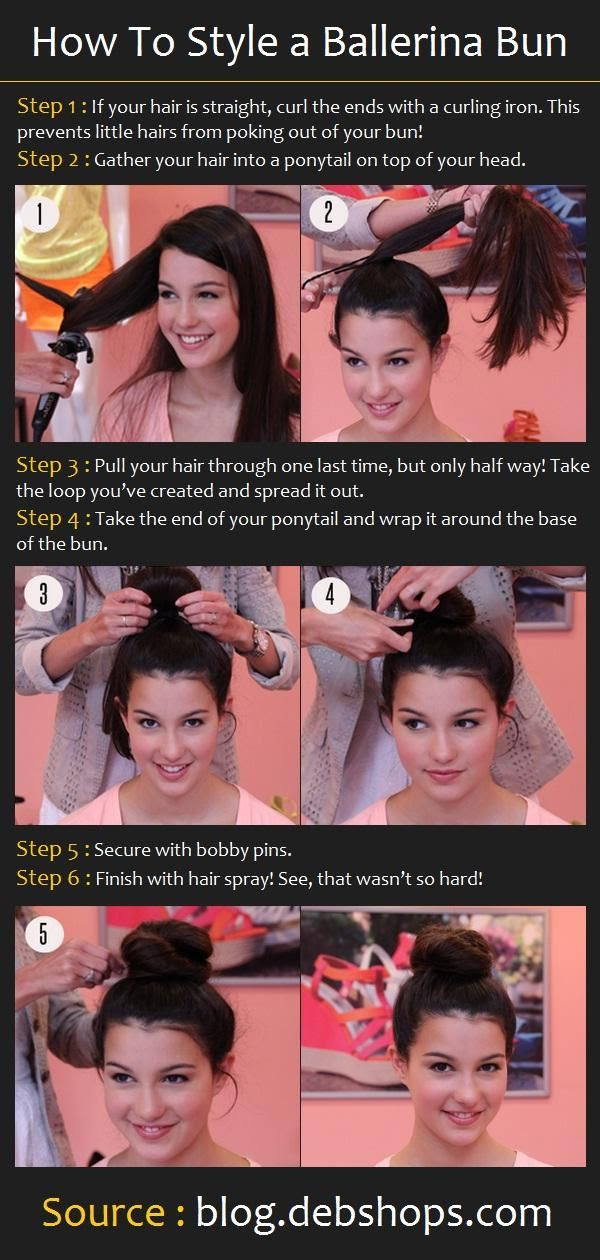 How To Do a Ballerina Bun Hairstyle: buns are so cute, but take so long to master...