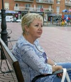 Monserrat Gasull, ex concejala de ERC, en la Plaza de les Monges de...