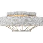 Golden Lighting 7856-FM Oy Ferris Flush Mount Ceiling Light Oyster