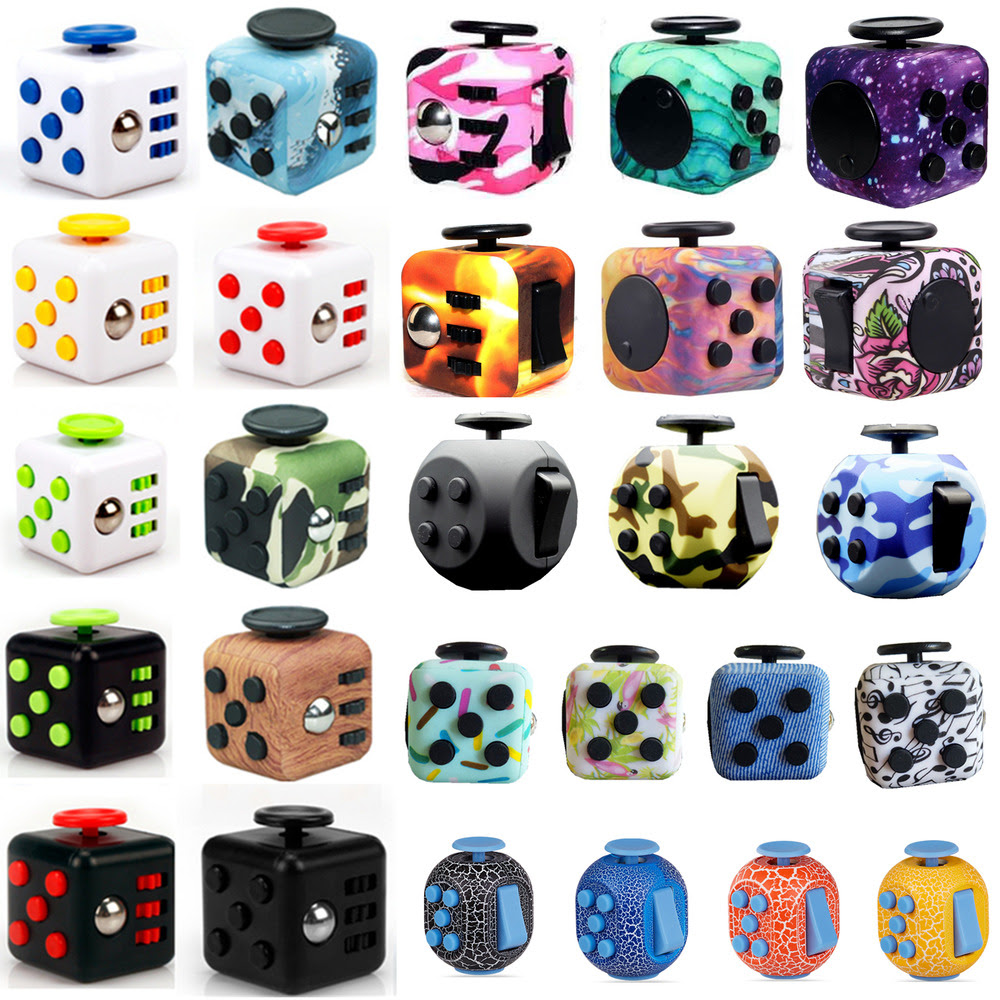 Fidget Cube Dice Vinyl Desk Toy Children Adults Stress ...