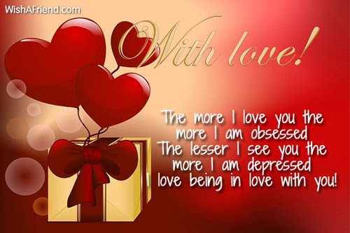 The More I Love You The I Love You Message