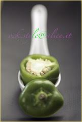 Mini Green Pepper in a Cinese Spoon