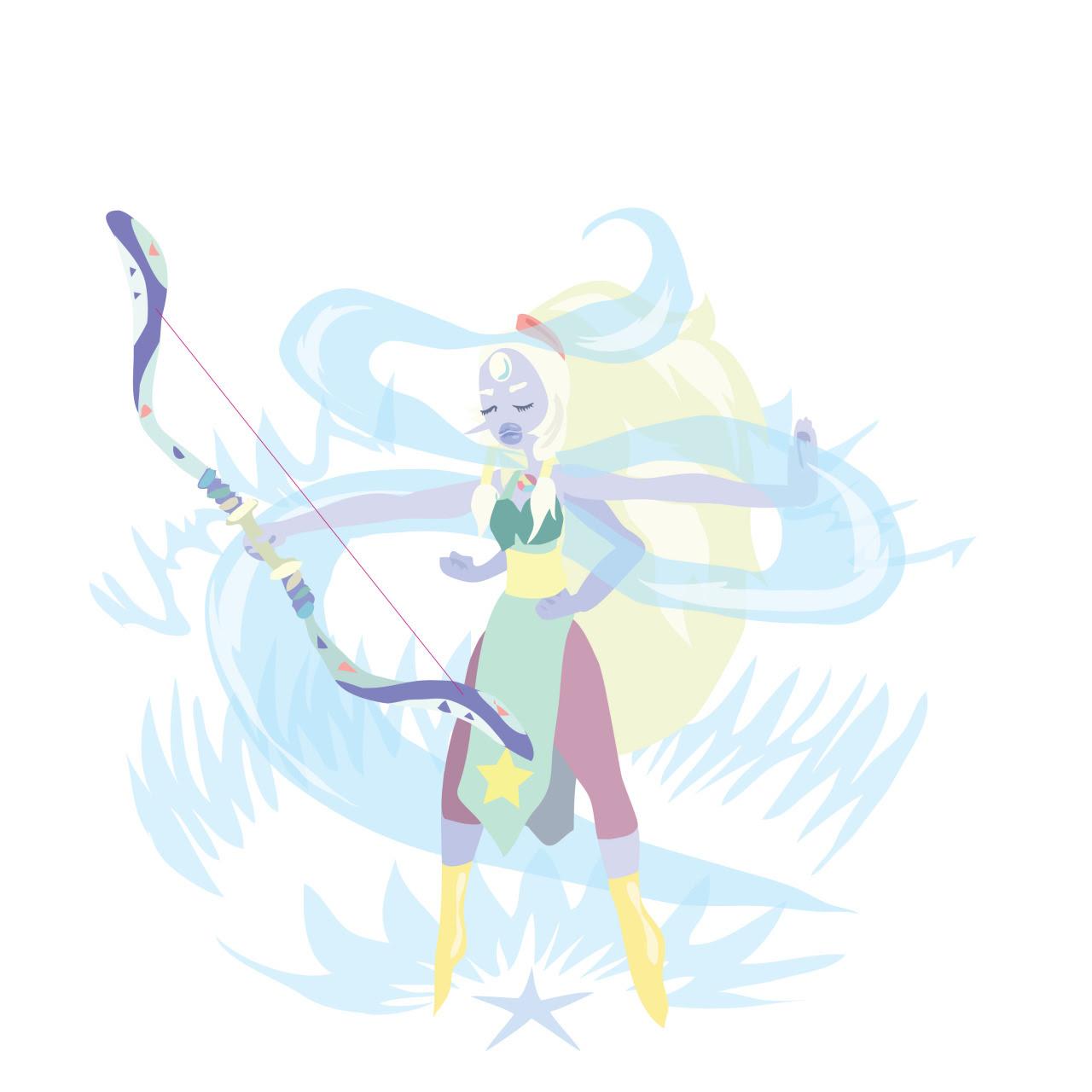 I drew my fav fusion opal!