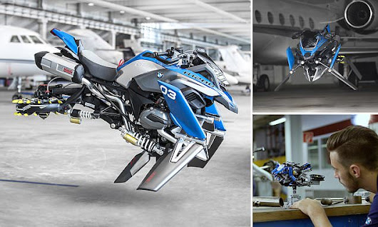 BMW unveils a flying motorbike concept vehicle based on Lego