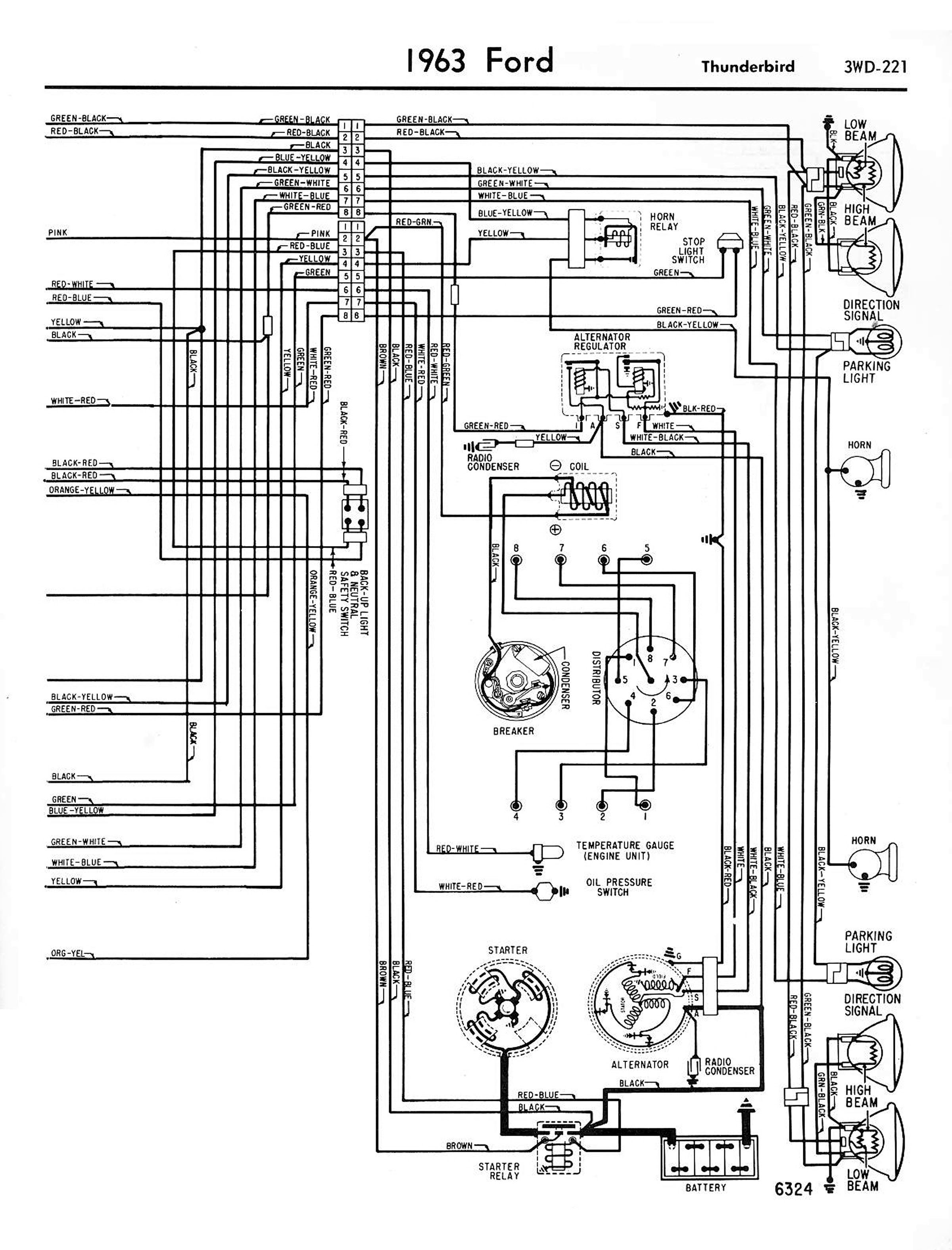 63 Fairlane Wiring Diagram