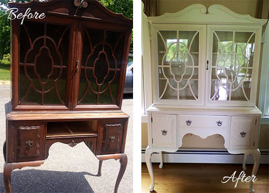 Refinishing Old Furniture for Storage - Closets by Melissa