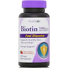 Natrol Fast Dissolve Biotin, 5000 mcg, Tablets - 250 count
