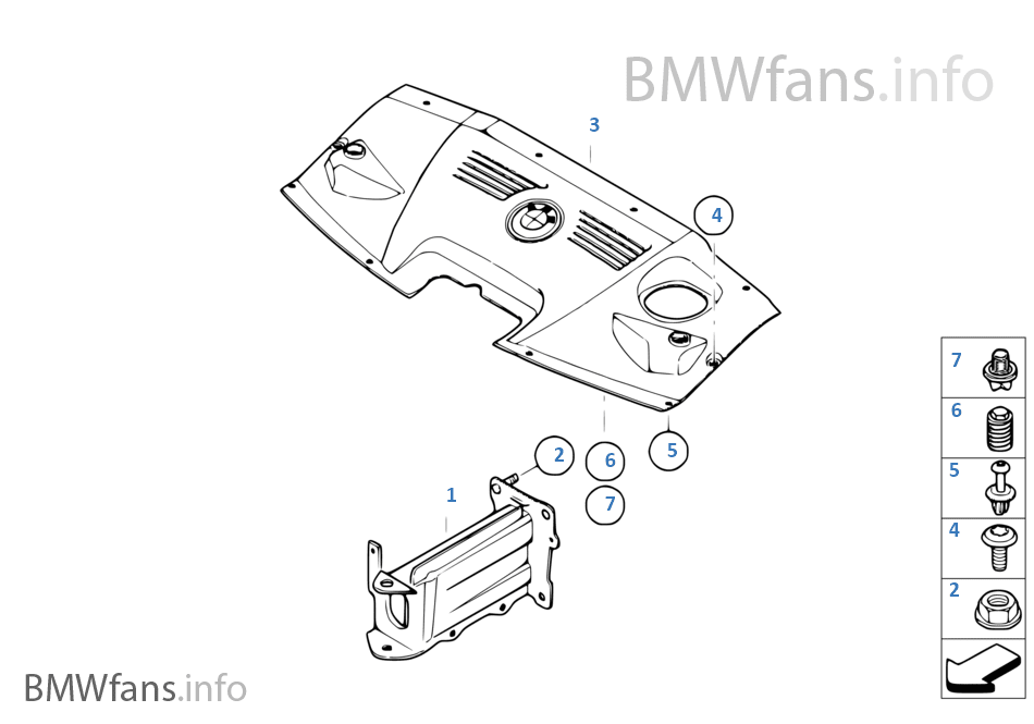 Mounting Parts Engine Compartment Bmw Z4 E85 Z4 2 2i M54 Europe