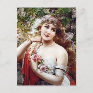 Pretty as a Rose postcard